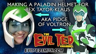 Making a Paladin helmet for Bex Taylor- Klaus AKA Pidge of Voltron + FREE Helmet Pattern.
