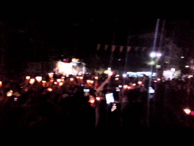مريم مريمتين مظاهرة مسائية بالشموع من حمص الخالدية 22 6 2011