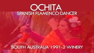 Ochita [flamenco dancer] demonstrating castanets in a winery in SA 1991-2 thumbnail
