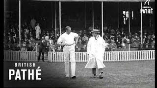 Cricket: Boxers V Jockeys In Charity Match (1920-1929)