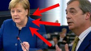 """Nigel Farage PRAWDĄ W OCZY Angeli Merkel! """"Pani doprowadziła do olbrzymiej fali imigracyjnej!"""""""
