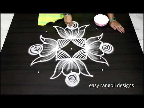 Cute Sankranthi /Pongal Kolam Designs || Latest Rangoli Patterns 2019 || Easy N Simple Muggulu
