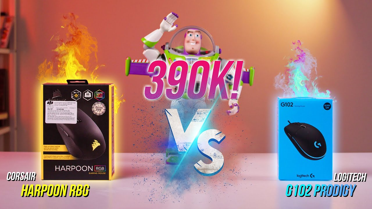Có 390K nên mua chuột chơi game Corsair Harpoon RGB hay Logitech G102 Prodigy?| GearsWar #1