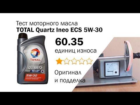 Маслотест #13. Total Quartz Ineo ECS 5W-30 подделка и оригинал тест, отличия