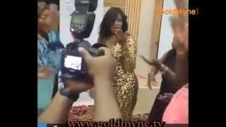 GOLDMYNETV: Omotola Jalade In 'Shoki' Dance In Abuja