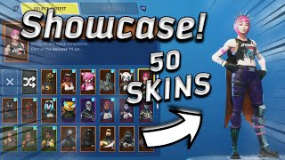 50 SKINS LOCKER SHOWCASE! (Rare Fortnite skins) Fortnite battle royal
