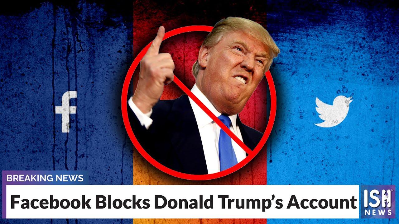 Facebook Blocks Trump's Account - YouTube