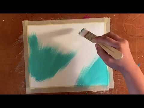 "Easy Abstract Acrylic Painting | Speed Painting | ""Fairy Dust"" 🧚🏽‍♀️✨"