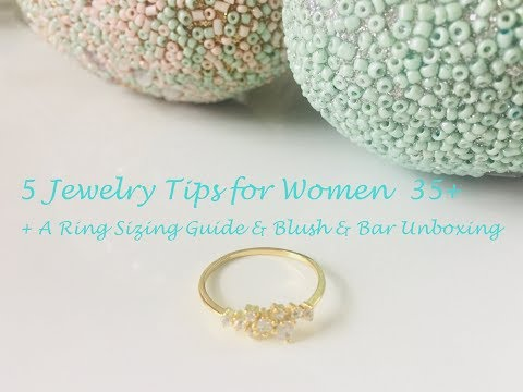 Jewelry Tips for Women Over 35 , The Ring Sizing Guide, + a Fun Blush & Bar Jewelry Unboxing