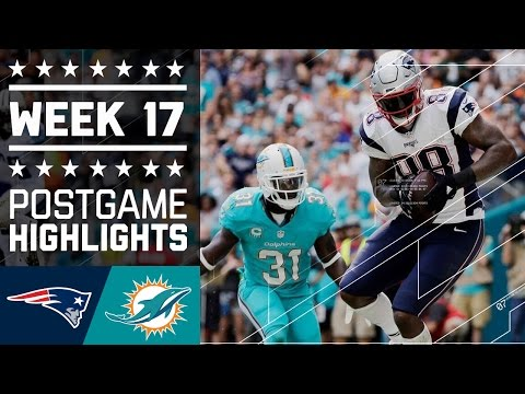 Patriots vs. Dolphins | NFL Week 17 Game Highlights