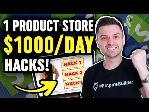 3 Secret One Product Dropshipping Hacks Worth $1000/day For 2020 | Shopify Dropshipping thumbnail