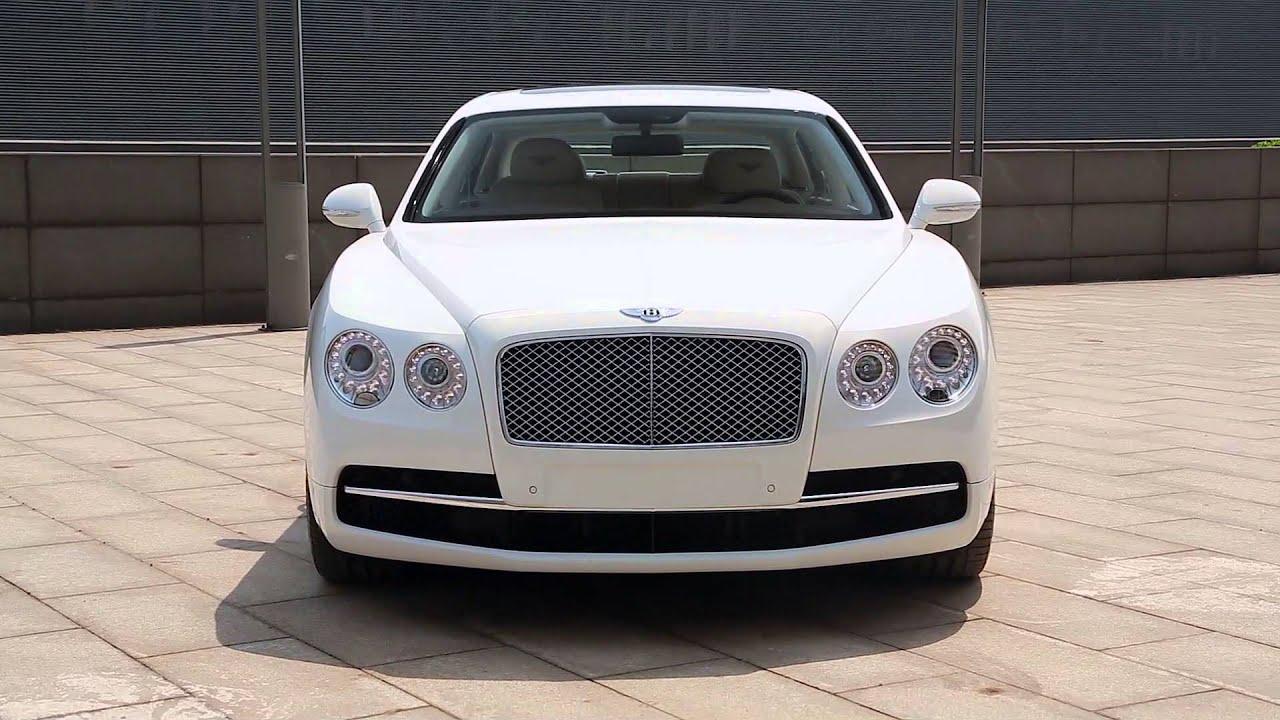 Bentley Flying Spur Glacier White Youtube