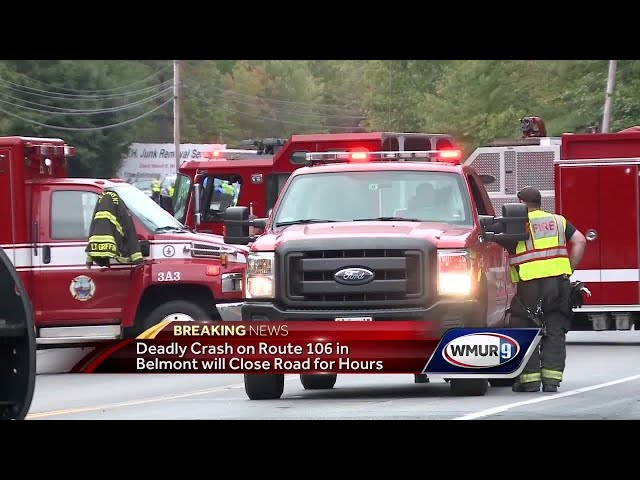 1 killed in crash on Route 106 in Belmont - YouTube