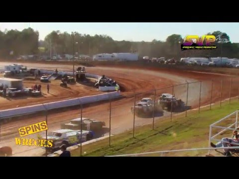 Spins & Wrecks / Cochran Motor Speedway / 1st Annual Crank It Up! / Feb 27 , 2016