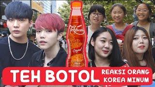 REAKSI Orang KOREA mencoba TEH BOTOL!! | COWOK KOREA