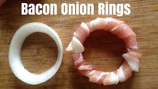 Bacon Onion Rings #baconionrings