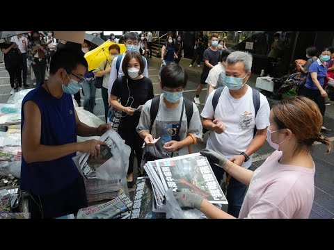 Download Hong Kong crackdown: Pro-democracy paper Apple Daily publishes final edition