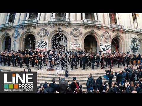 Nouveau concert de colère de l'Opéra National de Paris / Paris - France 18 janvier 2020