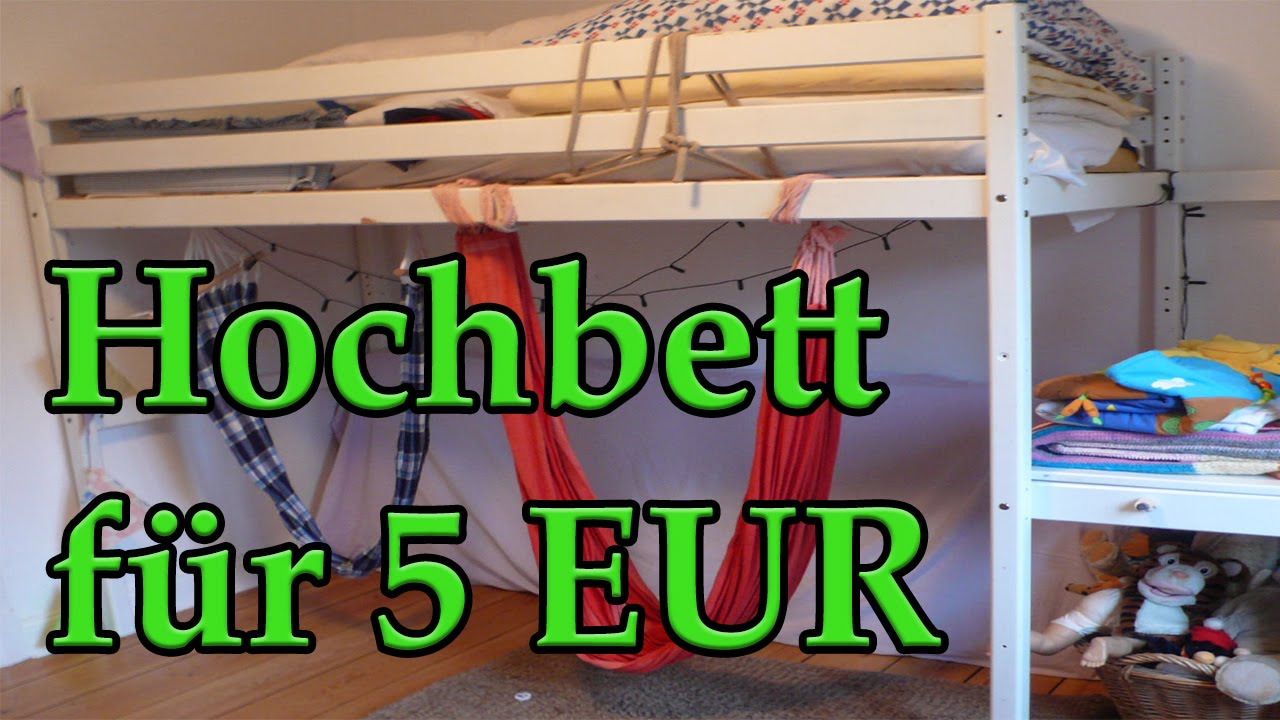 hochbett f r 5 eur d youtube. Black Bedroom Furniture Sets. Home Design Ideas