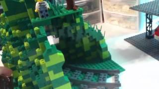 LEGO Train Tunnel Mountain MOC