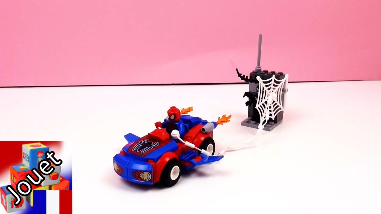 Spiderman fran ais la voiture araign e poursuit venom lego juniors d mo de joue avec moi - Spiderman voiture ...