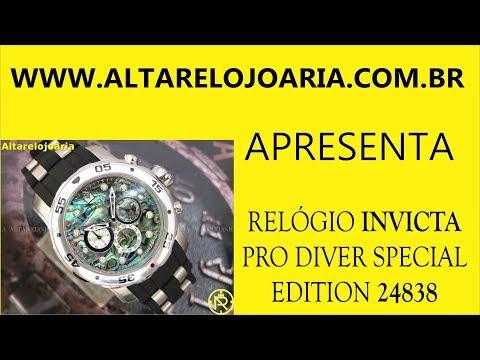 Relógio Invicta24838 edição especial mostrador iridescente calibre VD54 produção 2018