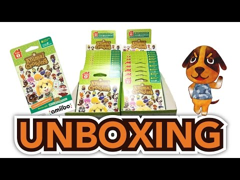 Animal CrossingHappy Home Designer Amiibo Cards Pack Unboxing !! (3DS/Wii U)