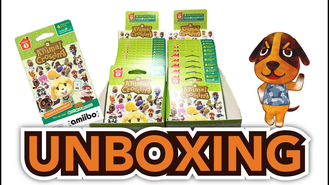 Animal Crossing Happy Home Designer Amiibo Cards Pack Unboxing Ds Wii U