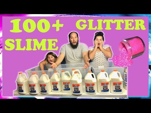 Thumbnail: 100+ POUNDS OF GLITTER SLIME - WILL IT SLIME?
