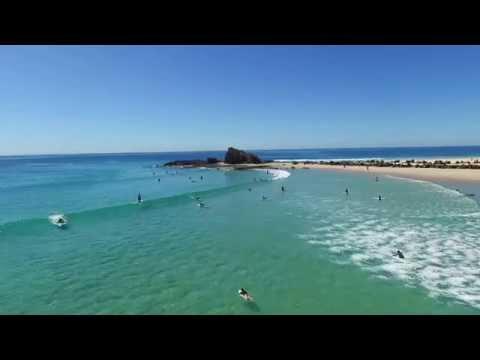 Surfing At Currumbin Alley - DJI Phantom 3