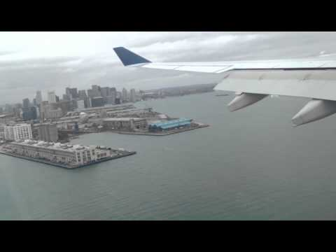 Landing at Boston Logan International Airport - Delta USA