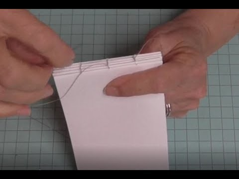 How to Stitch together a watercolor or Urban sketching sketchbook - DIY Book Binding