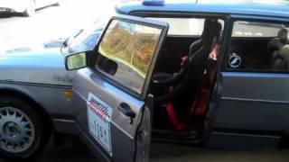 Saab rally X  Corbeau Forza race seat and Corbeau universal seat bracket install