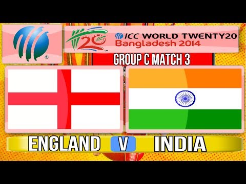 Cricket Game ICC T20 World Cup 2014  England v India Group C Match 3