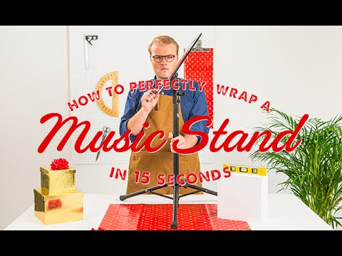How To Wrap A Music Stand in 15 Seconds