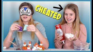 VANESSA CHEATED | Blindfolded Slime Challenge | Nessa Grace