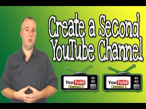 how to create a second youtube channel