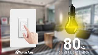 Smart Dimmer Switch by Martin Jerry, Compatible with Alexa and Google Assistant, Home Automation IOT