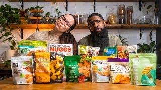 Vegan chicken nugget taste test | vegan showdown with 10 brands! + BONUS!