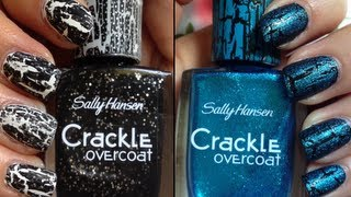 Review & Demo: Sally Hansen Crackle Overcoat Polish