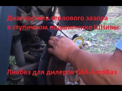 Диагностика и регулировка теплового зазора в ступичном подшипнике Нивы Шевроле