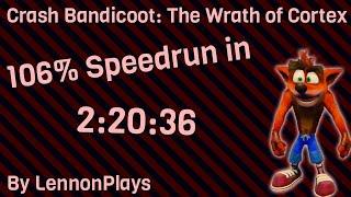 (Current World Record) Crash Bandicoot: The Wrath of Cortex 106% in 2:34:22 (2:20:36 w/loads)
