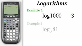 TI Calculator Tutorial: Logarithms