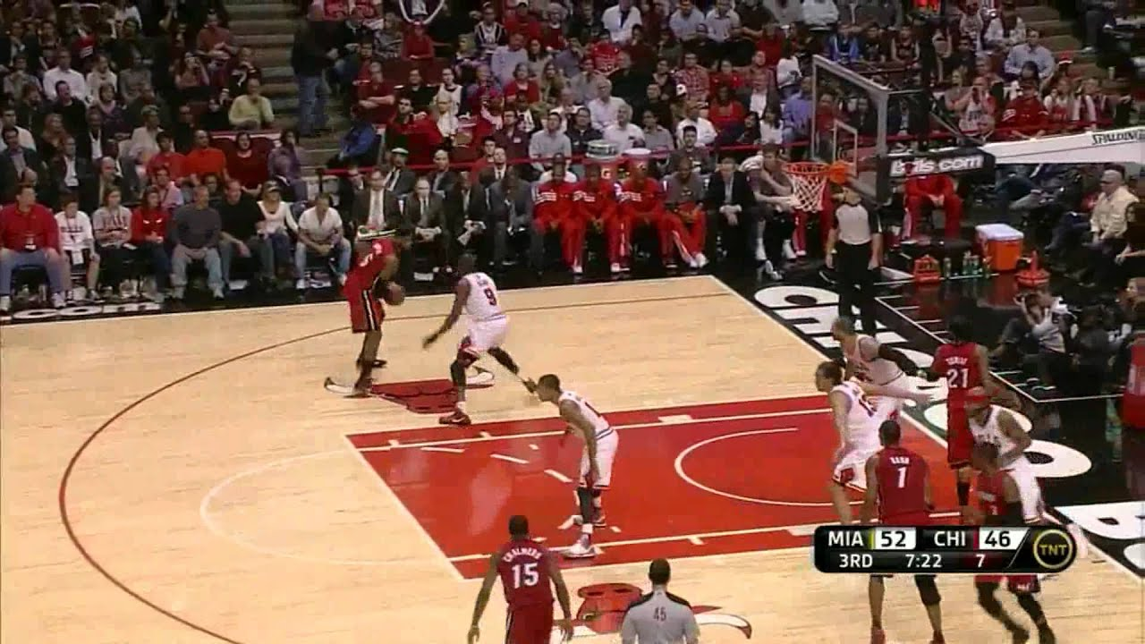 LeBron James 30 Points Monster Block On Derrick Rose Vs Chiaco Bulls Full Highlights 04122012
