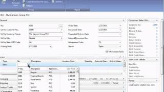 Microsoft Dynamics NAV 2009:  Sales Order Entry
