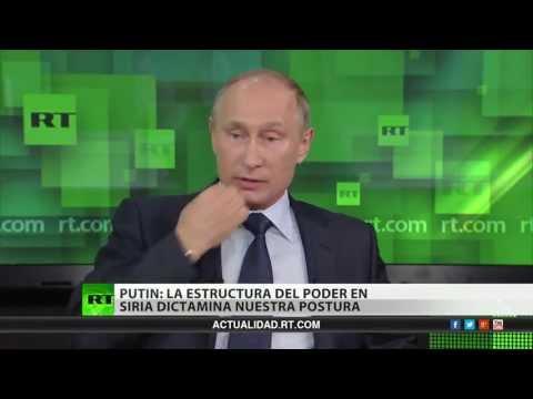 Vladímir Putin conversa con periodistas de RT