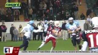 Hamburg Blue Devils feiern German Bowl Sieg 2003