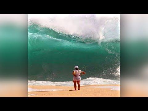 Elle n'avait pas vu la vague... ça tourne mal (•_•)