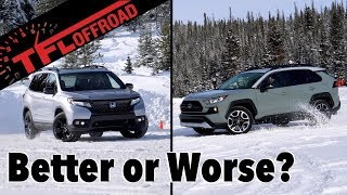 2019 Toyota RAV4 Adventure vs Honda Passport AWD: Compared on Snow and Ice