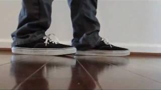 Vans Era (Black) and Classic Slip-On (Italian Leather) On Feet